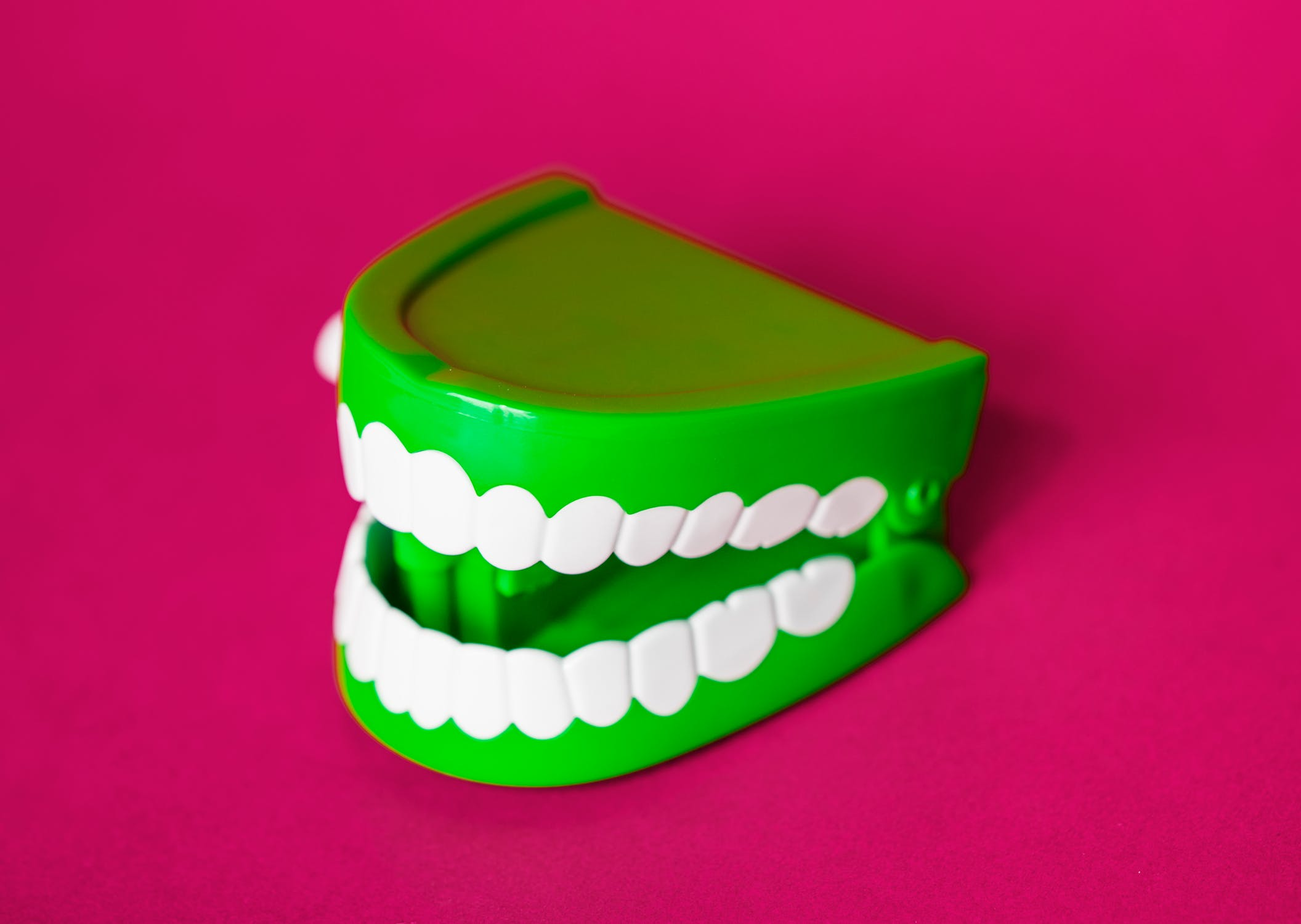 Green & White Denture Toy
